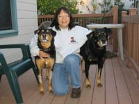 Esther with Kona and Whiskers